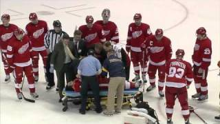 Patrick Eaves taken to hospital after a hit in the head by Roman Josi