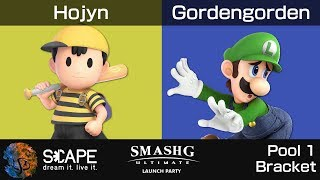 Ultimate Launch Party - Hojyn (Ness) vs. Gordengorden (Luigi) [Pool 1 Bracket]