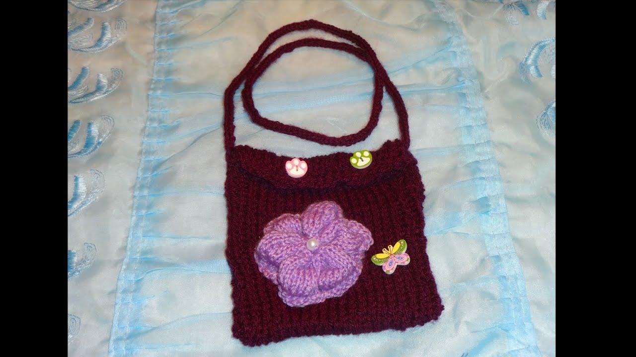 Вязание спицами сумочки для девочки 26