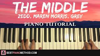 Download Lagu HOW TO PLAY - Zedd, Maren Morris, Grey - The Middle (Piano Tutorial Lesson) Gratis STAFABAND
