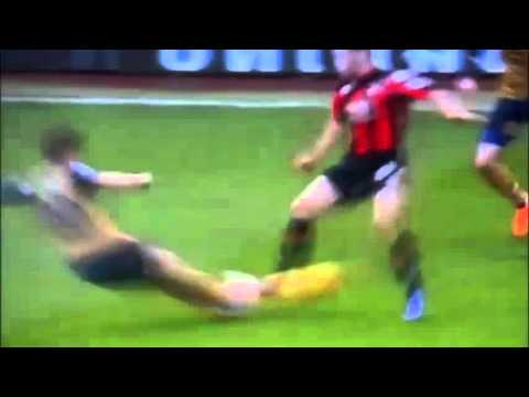 Mathieu Flamini HORRIFIC two-footed Tackle on Dan Gosling | Bournemouth 0-2 Arsenal (7/2/2016) HQ