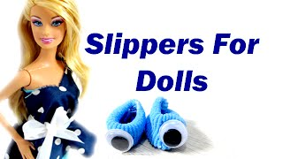 [Barbie Slippers | How To Make Doll Barbie Slippers] Video