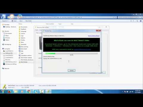 How to create a bootable windows XP/Vista/7/8 in USB Drive