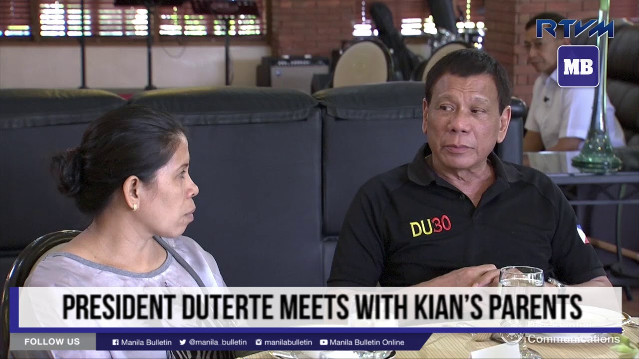 Duterte meets with Kian's parents