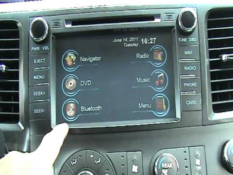 2011 Toyota Sienna Navigation System Aftermarket YouTube