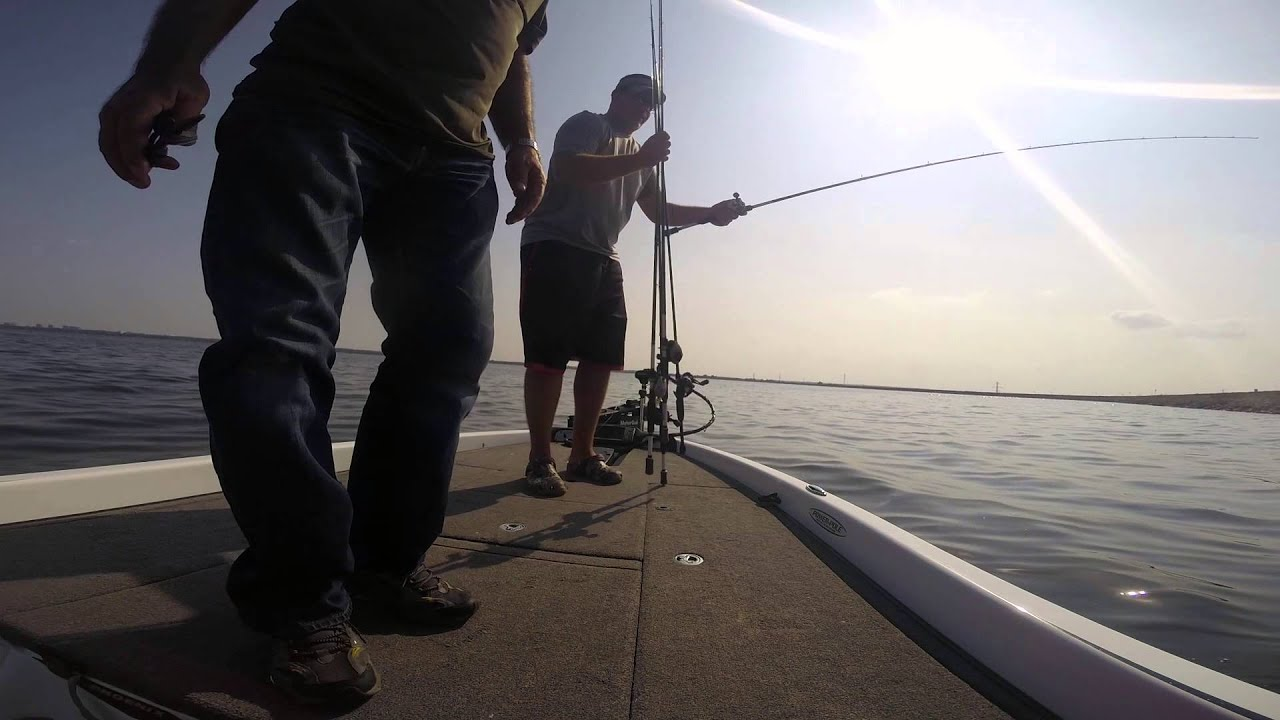 Big Catfish Lake Hefner while Bass Fishing on Medium Heavy Lews Custom Speed Stick