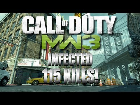115 Kill Infected Game on Intersection Mw3 Map Pack #6