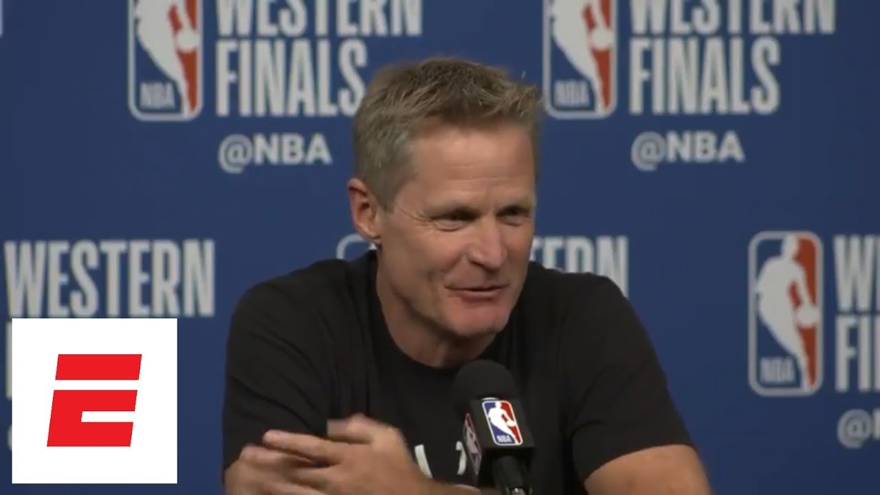 Steve Kerr's got jokes: 'I'm taking the Warriors +1.5' vs. Rockets in Game 1 | ESPN