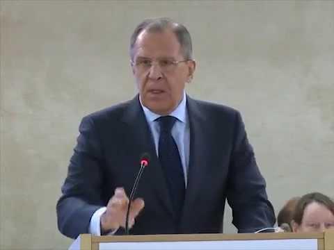 Выступление С.Лаврова на сессии СПЧ ООН
