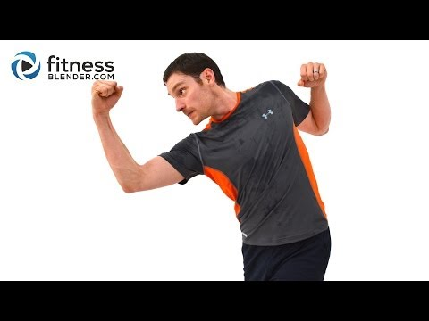 Fun Kickboxing and HIIT Cardio Workout Challenge - Bodyweight HIIT Fat Burner w Warm Up & Cool Down Image 1
