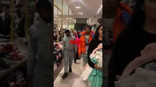 Rapper lil baby make fans go crazy at mall