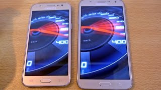 Samsung Galaxy J7 vs Galaxy J5 - Speed Test HD