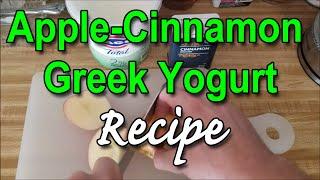 Apple-Cinnamon Greek Yogurt (221 calories) - Recipe - Winpower Diet