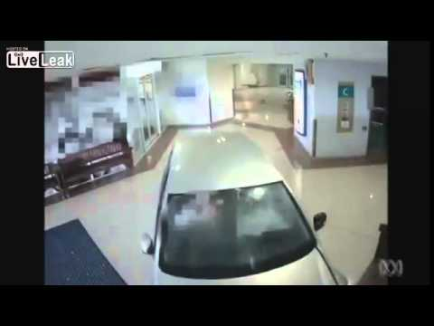 87 year old woman crashes car through doors of Queensland shopping mall News2015
