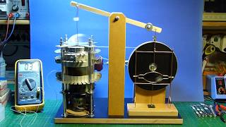 Walking Beam Stirling Engine with discontinuous Displacer-Motion Part 2