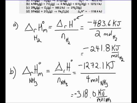 determining molar enthalpies from enthalpy changes for balanced equations youtube. Black Bedroom Furniture Sets. Home Design Ideas