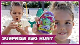 EASTER SURPRISE EGG HUNT - Peppa Pig, Shopkins and a Golden Egg!