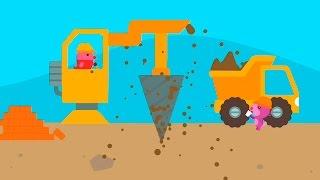 Мультфильмы для детей Хомячок и Рабочие машины.Саго мини строительные машины. Мультики про машинки.