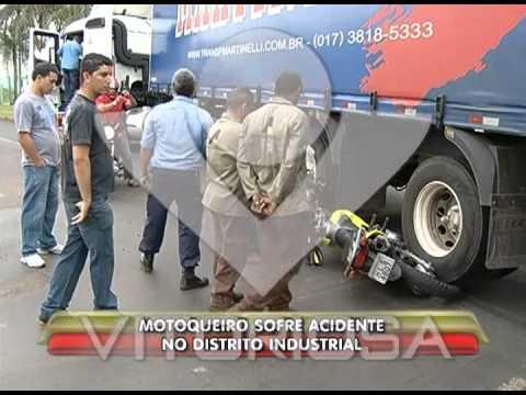 Motociclista é arrastado por carreta no Distrito Industrial