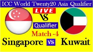 Singapore vs Kuwait | ICC World Twenty20 Asia Qualifier, Live Cricket Match Today Kuwait v Singapore