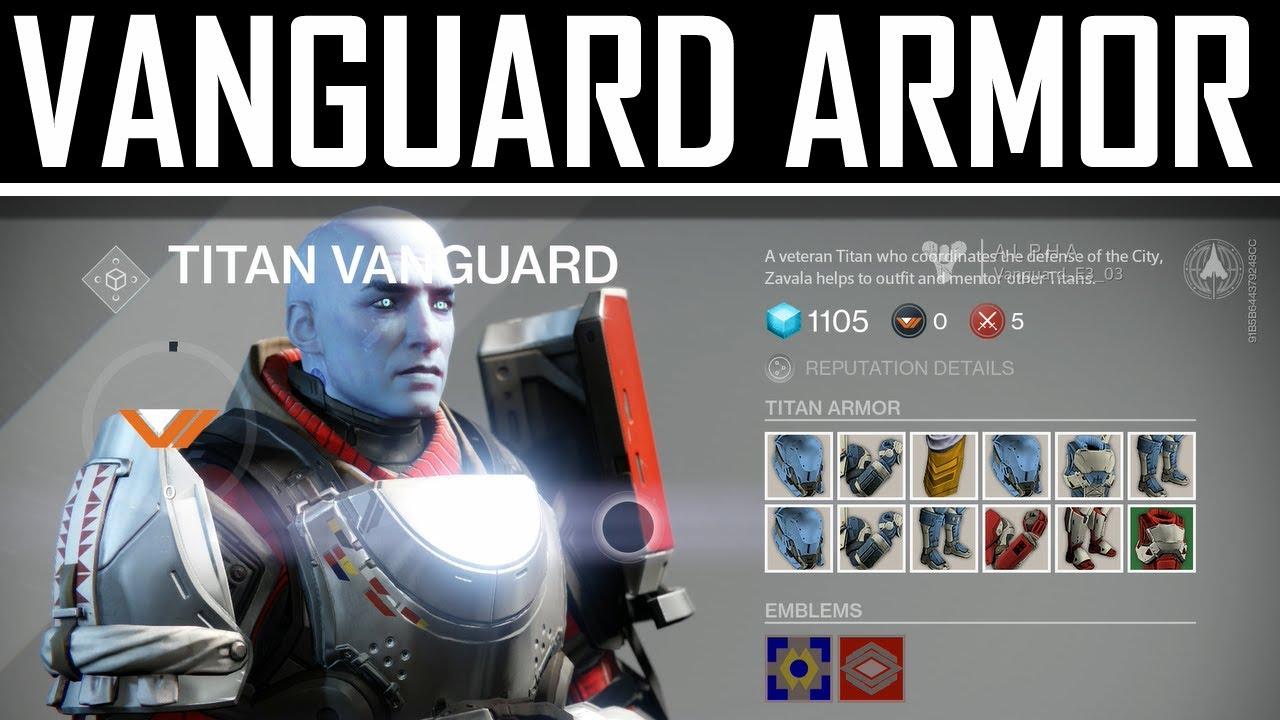 new destiny gameplay vanguard armor youtube