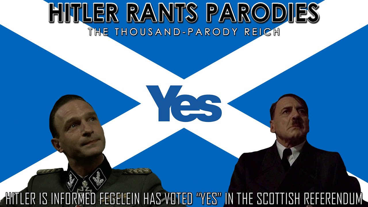 "Hitler is informed Fegelein has voted ""Yes"" in the Scottish Referendum"