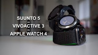 Suunto 5 vs Vivoactive 3 vs Apple Watch 4 - a runner's review