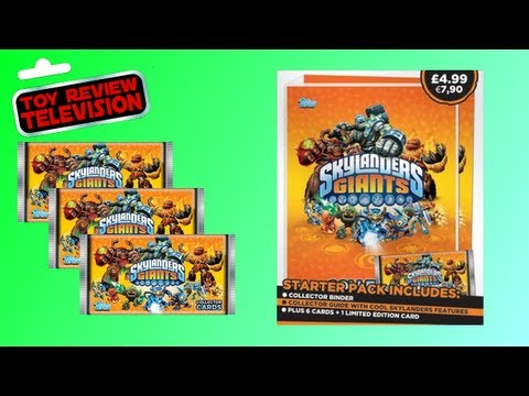 Topps Skylanders Giants Trading Cards Packs + Starter Pack Review Opening