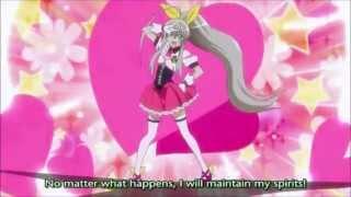Nyaruko-san OVA 1 scene: Nyaruko becomes a magical girl :3