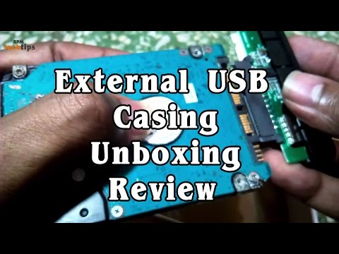 HDD Internal SATA to EXTERNAL USB CASE - Unboxing & Review