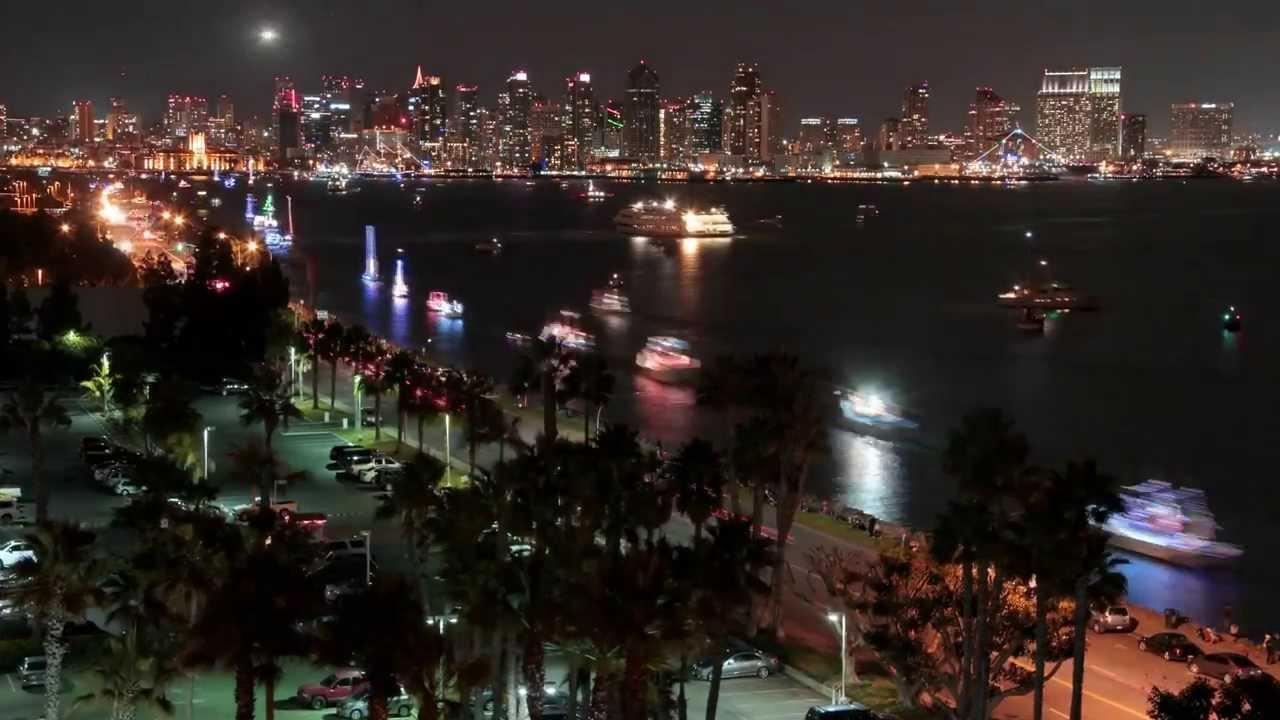 2013 San Diego Bay Parade Of Lights  Timelapse By Aloha