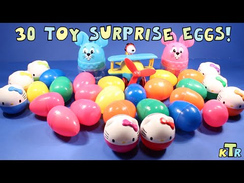 30 Hello Kitty and Toy Surprise Eggs with Snoopy★ KTR ★