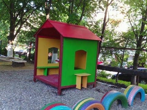 Домик своими руками для детского сада фото