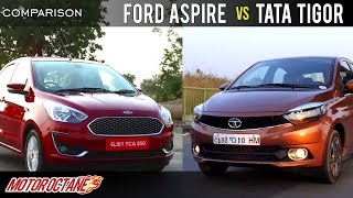 Tata Tigor vs Ford Aspire Comparison | Hindi | MotorOctane