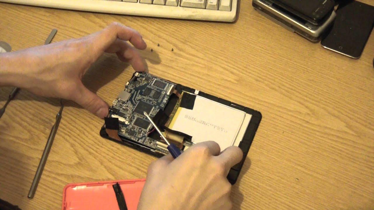 Замена батареи на навигаторе своими руками