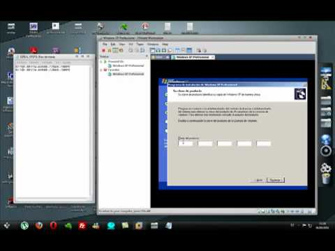 instalar windows xp sp3 en VMware Workstation luego particionar con partition magic 8.0 (parte1)