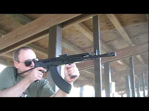 Firing Hungarian AMD-65 7.62x39mm AK-47 Rifle