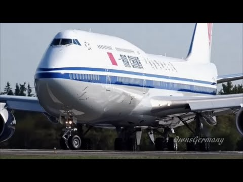 Air China Boeing 747-8i Landing & Hard Brake Test @ KPAE Paine Field