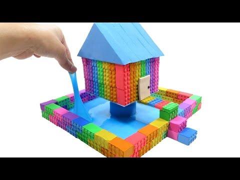 How To Make Kinetic Sand Rainbow One Pillar Pagoda & Learn Colors Creative Fun For Kids