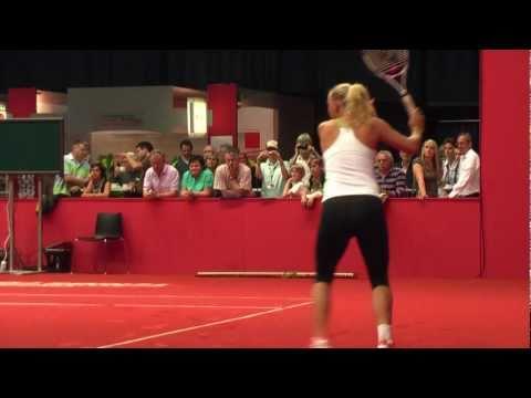 Caroline Wozniacki training session @ Porsche Tennis Grand Prix 2011