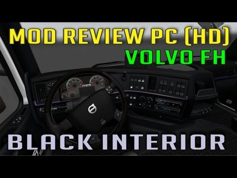 Vovlo Black Interior by Andrywka - TSM map 4.1 and Going East dlc (ETS 2 Mods)