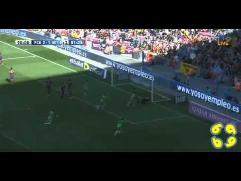 Angel Lafita Second Goal vs Barcelona 2-2 ( Barcelona 2-2 Getafe ) 03/05/2014 HD