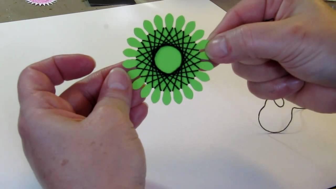 String Art Flower Tutorial - YouTube