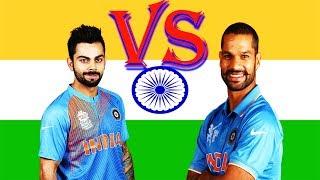 Virat Kohli vs Shikhar Dhawan. Who is the Best Batsmen?