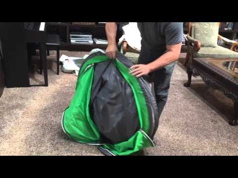 How to fold and store a coleman 4 person pop up tent