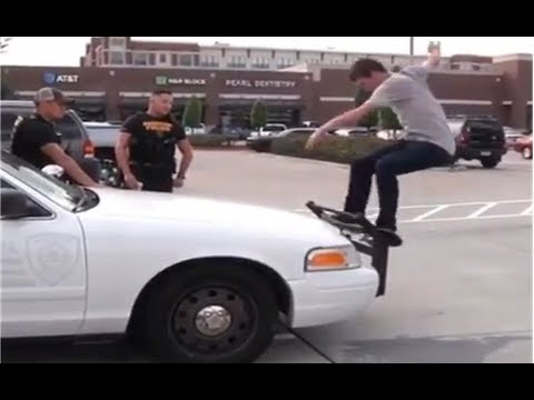 INSTABLAST! -  Kickflip Fs Lipslide Hollywood High 16! 9 Year Old Lands 900!  Skater Grinds Cop Car!