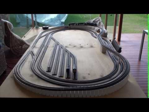 8 X 4 HO Model Train Layout With Flyover Part 2 YouTube