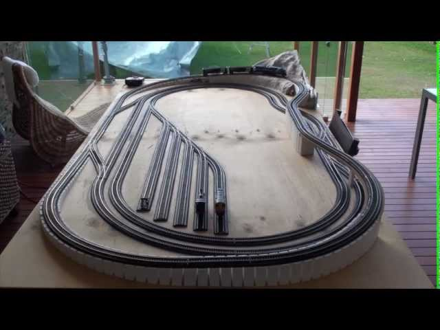 8 x 4 HO Model train layout with flyover (Part 2)