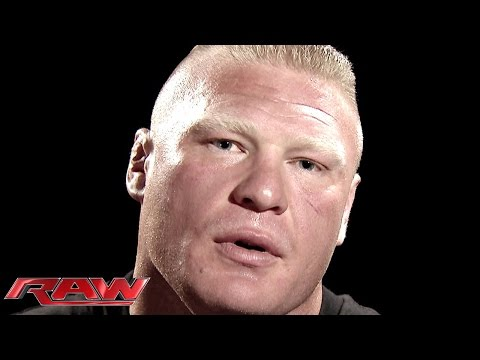 Brock Lesnar addresses his Night of Champions rematch against John Cena: Raw, Aug. 25, 2014