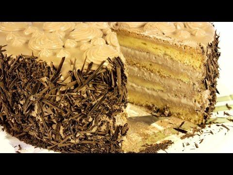 """Торт """"Нежность"""" со взбитыми сливками на шифоновом бисквите. Подробный рецепт."""